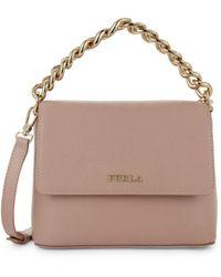 Furla Gaya Mini Curb Chain Crossbody Bag - Pink