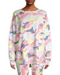 Wildfox Camouflage-print Sweatshirt - Pink