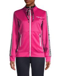 Karl Lagerfeld Logo-tape Track Jacket - Pink