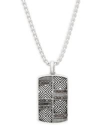 Effy - Black Diamond And Sterling Silver Pendant Necklace - Lyst