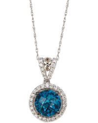 Le Vian - Chocolatier Diamond, Topaz & 14k White Gold Pendant Necklace - Lyst