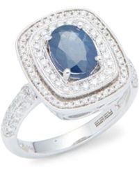 Effy - Diamond, Sapphire & 14k White Gold Ring - Lyst