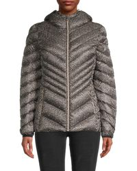 MICHAEL Michael Kors Chevron-quilted Down-fill Jacket - Gray