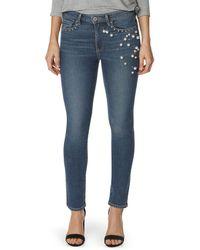 PAIGE Exclusive Jacqueline Straight Pearl Jeans - Blue