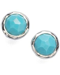 Ippolita - Rock Candy Turquoise & Sterling Silver Lollipop Stud Earrings - Lyst