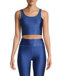X By Gottex Women's Silhouette Sports Bra - Sapphire - Size M - Blue