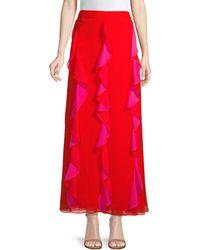Diane von Furstenberg Ruffled Skirt Red