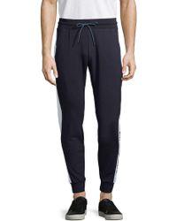 Antony Morato Side Stripe Fleece Jogger Trousers - Blue