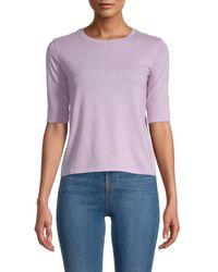 Vince Women's Crewneck Short-sleeves Tee - Lilac - Size S - Purple