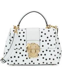 Dolce & Gabbana Lucia Polka-dot Top-handle Leather Satchel - Multicolor