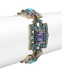 Heidi Daus Women's Deco Windowpane Bracelet - Multicolour