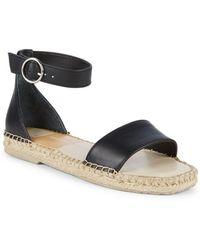 Dolce Vita - Bayley Leather Ankle Strap Espadrilles - Lyst
