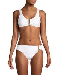 Mouillé Swimwear Carolie Two-piece Bikini Set - White
