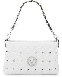 Valentino By Mario Valentino - Vaniled Zigzag Stitch Leather Shoulder Bag - Lyst