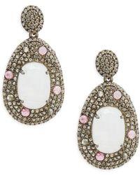 Bavna - Rainbow Moonstone, Pink Tourmaline & Sterling Silver Earrings - Lyst