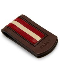 Bally - Sachas Striped Leather Money Clip - Lyst