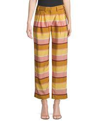 Stine Goya Women's Kathy Stripe Trousers - Stripes - Size S - Yellow