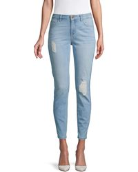 Siwy Lauren Destructed Skinny Ankle Jeans - Blue