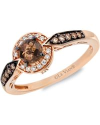 Le Vian Chocolatier® 14k Strawberry Gold®, Chocolate Quartz®, Vanilla Diamonds® & Chocolate Diamonds® Ring - Metallic