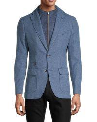 Robert Graham Men's Downhill Viii Zip-insert Sportcoat - Blue - Size 40