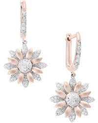 Ippolita 14k White Gold & Diamond Flower Pendant Necklace - Multicolour
