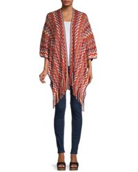 Missoni Chevron Wool-blend Wrap - Red