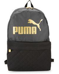 PUMA Two-tone Logo Backpack - Gray