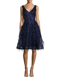 David Meister - Sequin Cocktail Dress - Lyst