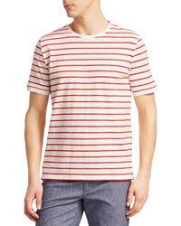 Saks Fifth Avenue Striped Cotton Tee - Multicolour