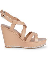 BCBGeneration Janice Chain-detail Wedge Sandals - Metallic