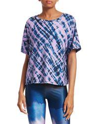 Terez Women's Cool Cool Tie-dye Tee - Size S - Blue