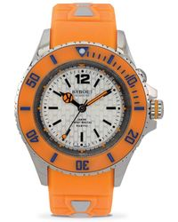 Kyboe - Neon Orange Silicone & Stainless Steel Strap Watch/40mm - Lyst