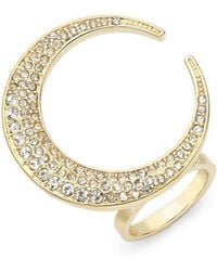 CC SKYE - 18k Yellow Gold Crescent Moon Ring - Lyst