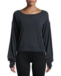 BLANC NOIR Amour Cropped Sweatshirt - Multicolour