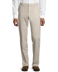 BOSS by HUGO BOSS Kaito Tapered Slim-fit Dress Trousers - Natural
