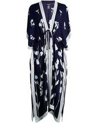 Karl Lagerfeld Floral-print Ruana - White