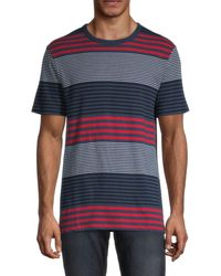 French Connection Dragged Striped T-shirt - Blue
