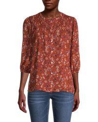 Nanette Lepore Floral Button-down Top - Multicolour