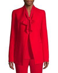 Lafayette 148 New York - Women's Miranda Crepe Blazer - Red - Size 10 - Lyst