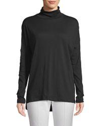 Pure Navy Turtleneck Cotton Sweater - Black