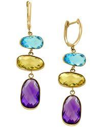 Effy Women's 14k Yellow Gold & Multi-stone Drop Earrings - Metallic