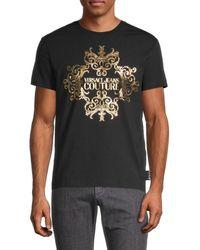 Versace Jeans Couture Men's Metallic Logo T-shirt - Black - Size Xs
