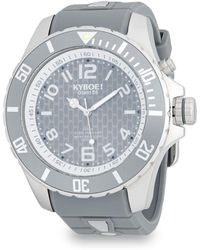 Kyboe - Stainless Steel And Silicone Strap Watch - Lyst