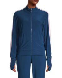 525 America Women's Side-stripe Track Jacket - Midnight - Size S - Blue
