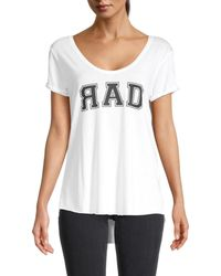 South Parade Women's V-neck Graphic Tee - White - Size Xs