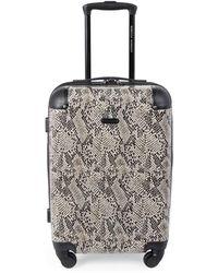Rebecca Minkoff Pippa 20-inch Snakeskin-print Suitcase - Taupe - Multicolour