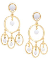 Stephanie Kantis - Chime Blue Chalcedony And Sterling Silver Chandelier Earrings - Lyst