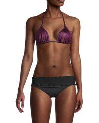 Solid & Striped The Iris Bikini Top - Purple