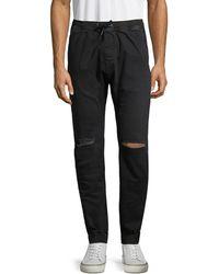 Zanerobe Ripped Jogger Trousers - Black