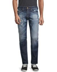 DIESEL Men's Thommer Faded Jeans - Denim - Size 29 - Blue